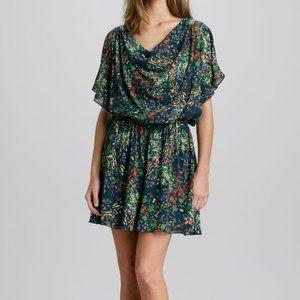Alice + Olivia Melee Floral Printed Draped Dress